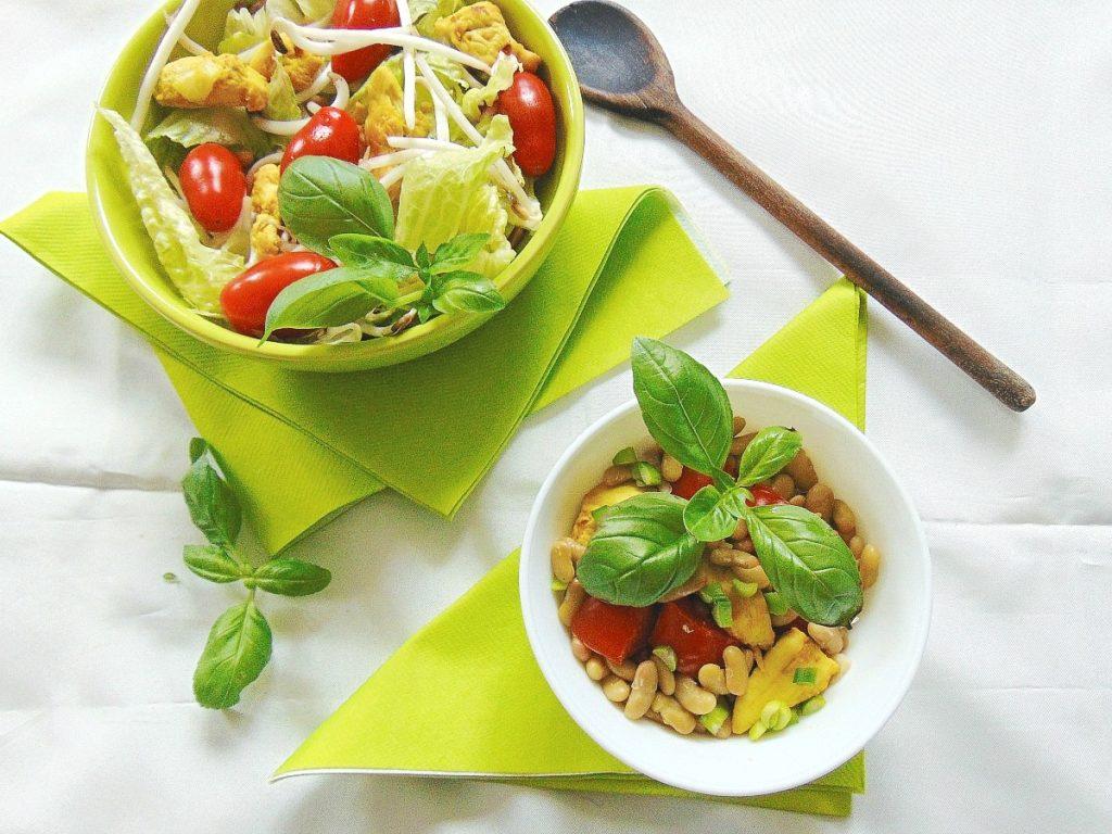 przepisy na salatki, gotowanie na parze