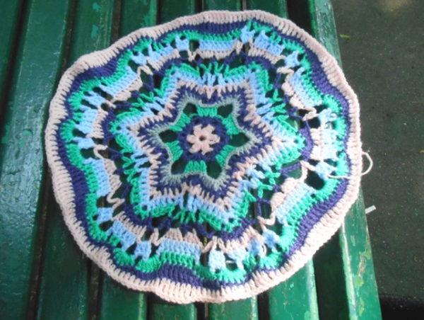 crochet mandala i navajo,