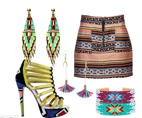 crochet mandala i navajo, motywy etniczne w modzie indianskie