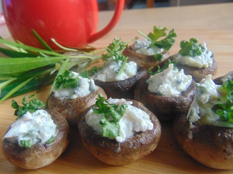 grzyby zapiekane z serem