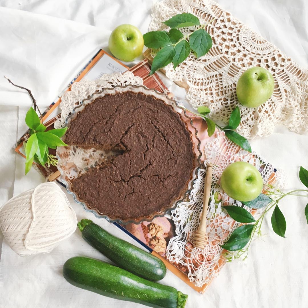 Bezglutenowe ciasto cukiniowo -czekoladowe.