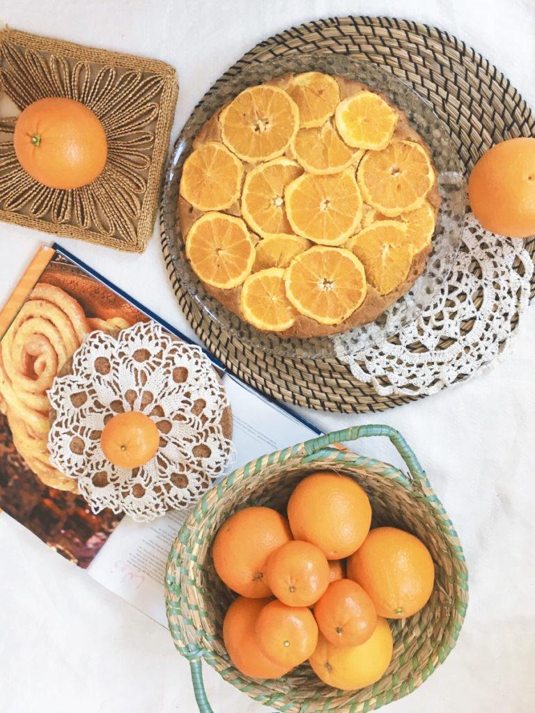 ciasto z pomarańczami