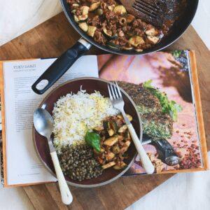 mięso mielone z ryżem i cukinią