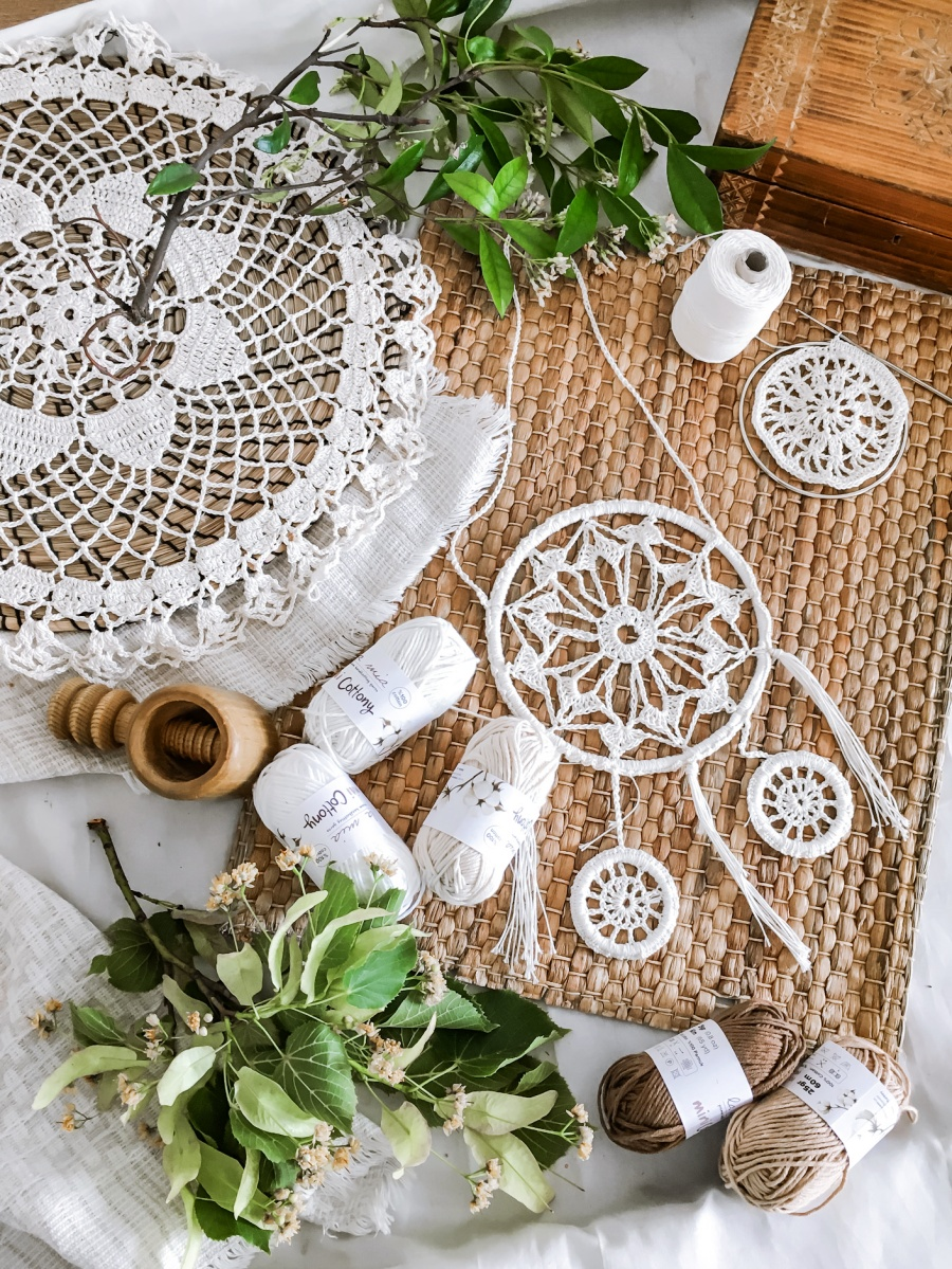 łapacz snów DREAM CATCHER CROCHET