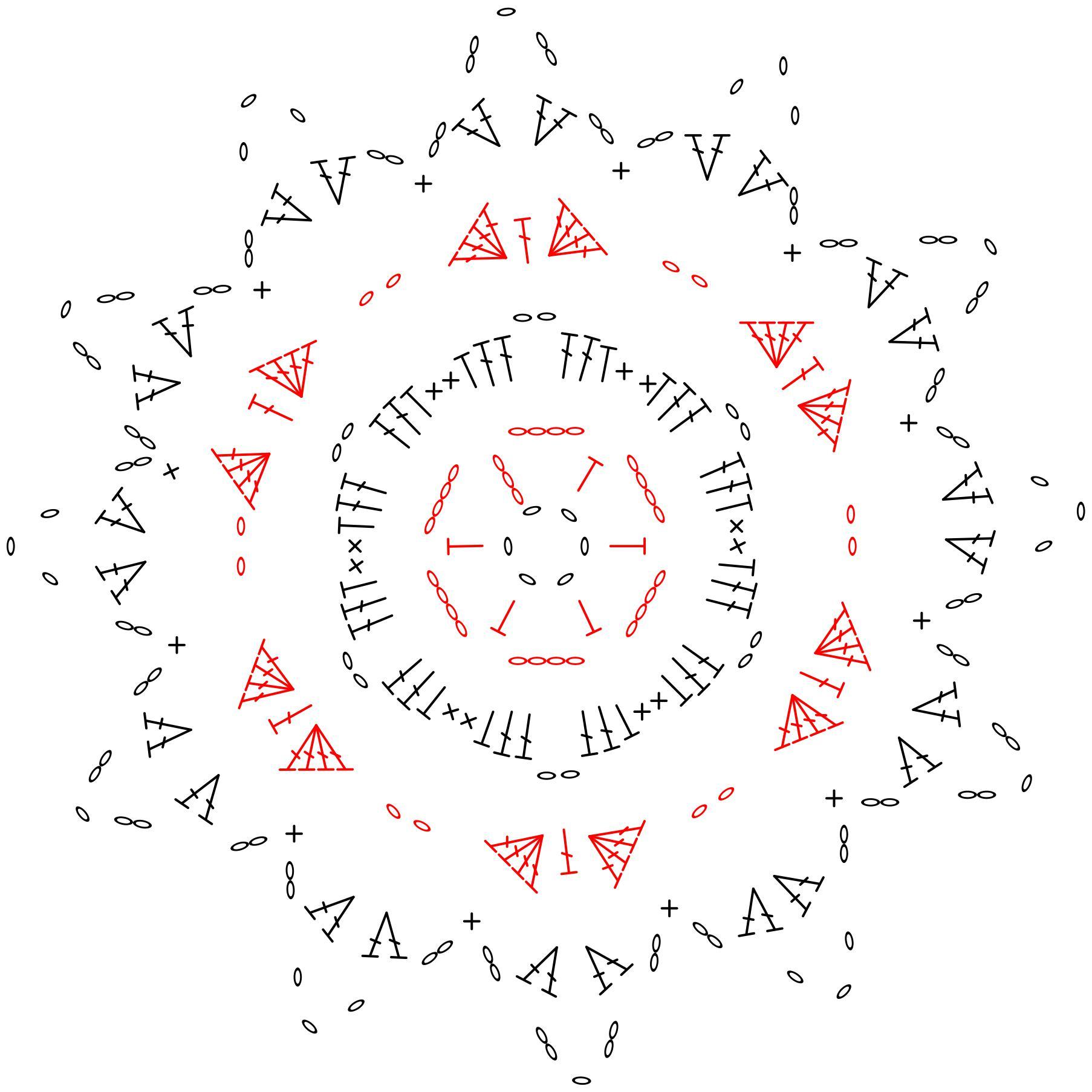 Wzory szydełkowe: szydełkowa gwiazdka na choinkę