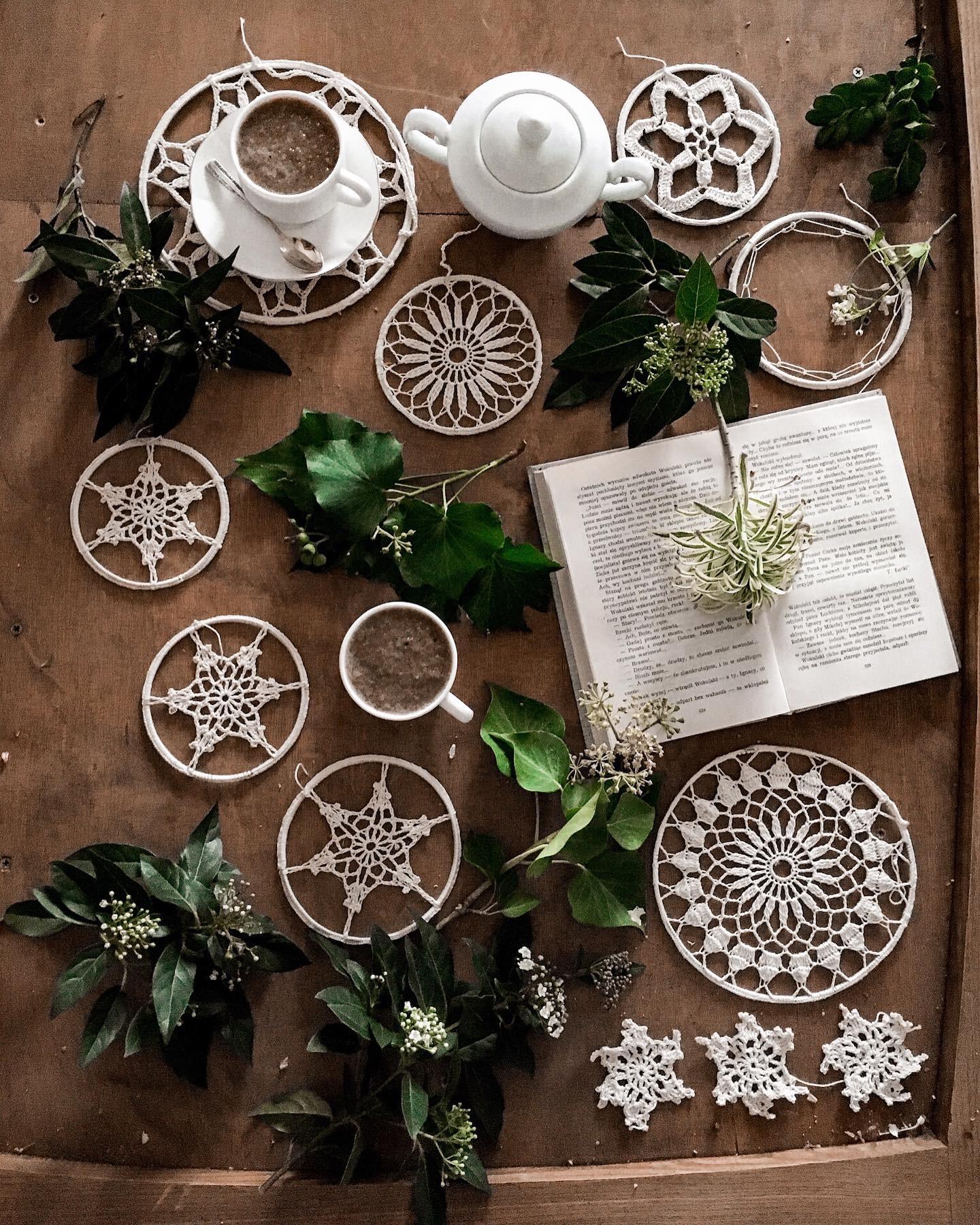 szydelkowa gwiazdka dekoracje