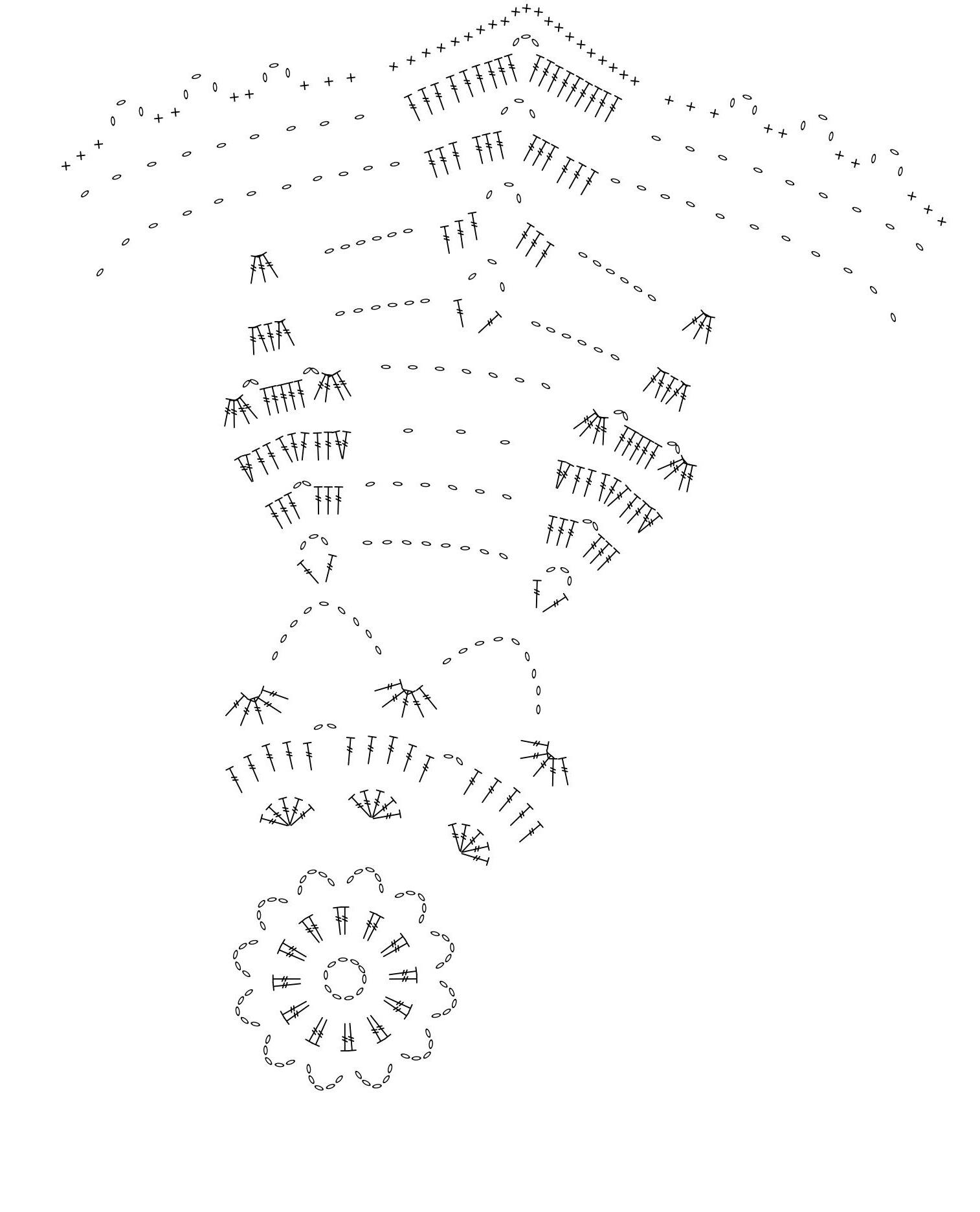 Wiosenna szydelkowa serwetka w motywy kwiatowe