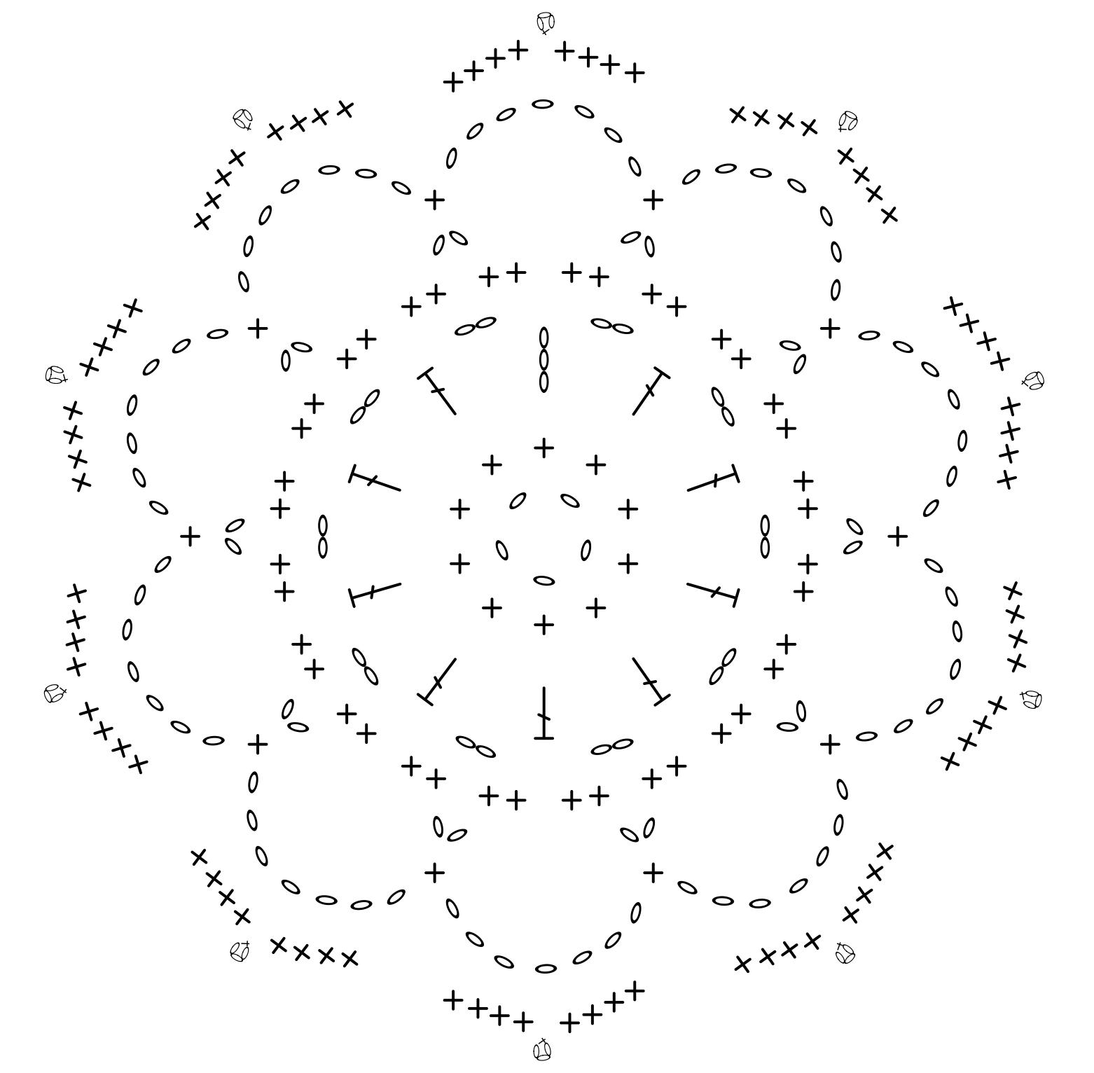 Szydełkowe kolczyki z kordonka w formie kwiatka